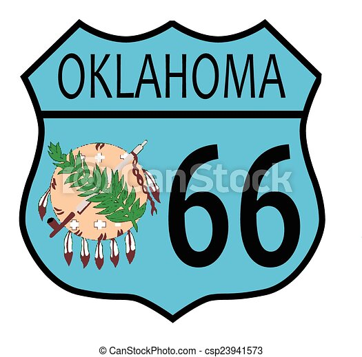 route 66 oklahoma sign and flag route 66 traffic sign over rh canstockphoto com route 66 road sign clipart route 66 road sign clipart