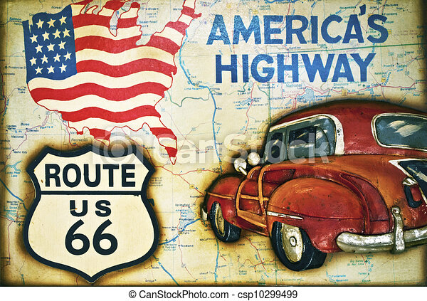 498 Route 66 High Res Illustrations - Getty Images
