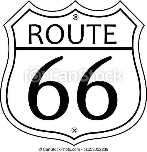 route 66 sign route 66 was the travel road from illinois to rh canstockphoto com route 66 sign clipart route 66 clip art free