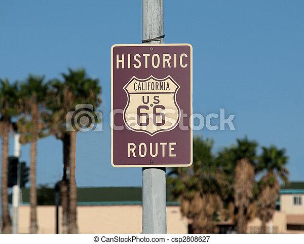 Route 66 Sign - csp2808627