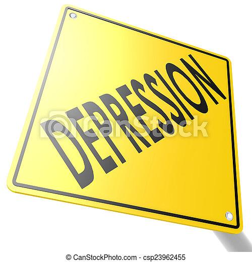 route, dépression, signe - csp23962455