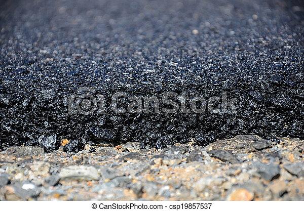route, nouveau, asphalte - csp19857537