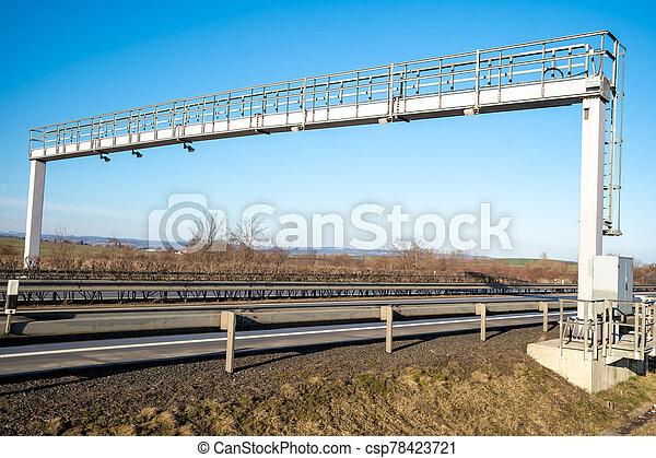 route, péage, camions, voyage, payé, autoroute, enregistrement, portail - csp78423721