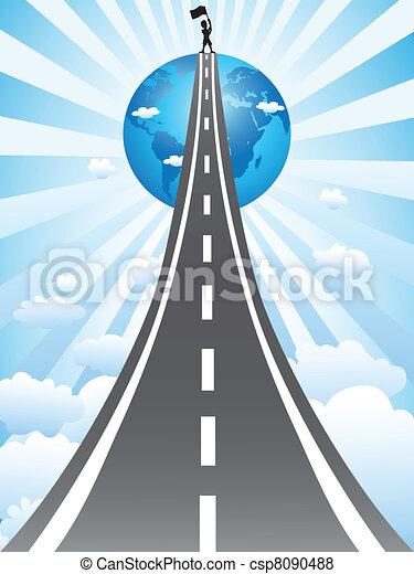 route, reussite - csp8090488