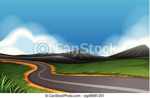 route rurale, paysage - csp68681251