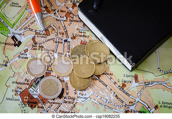 route, stylo, carte - csp19082235