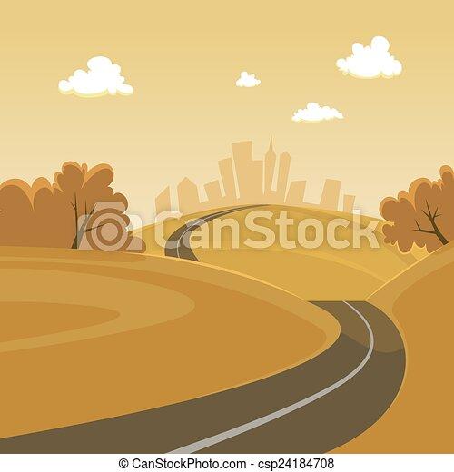 route ville - csp24184708