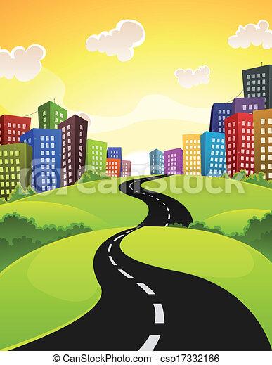 route ville - csp17332166