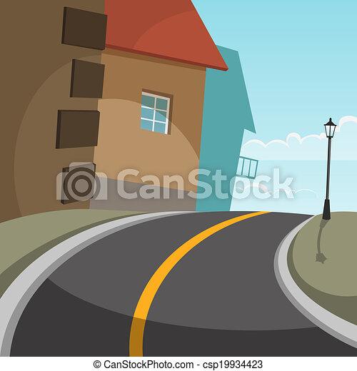 route ville - csp19934423