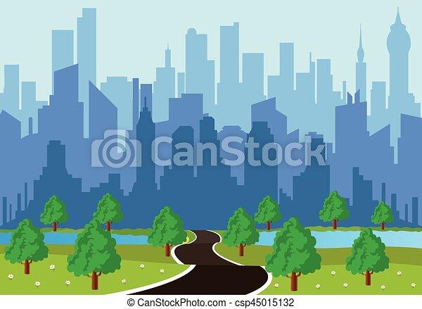route ville - csp45015132