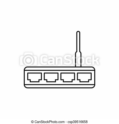 Router icon, outline style - csp39516658