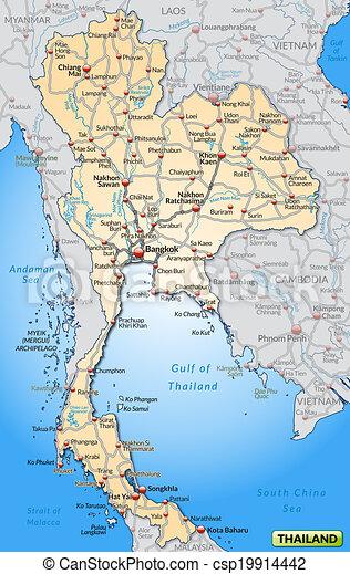 Carte Thailande Frontiere.Routes Carte Thailande