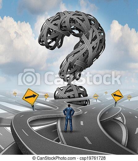 routes, confusion, défi - csp19761728