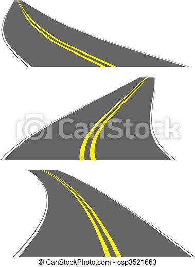 routes, vecteur, perspective - csp3521663