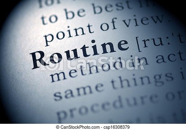 Routine - csp16308379