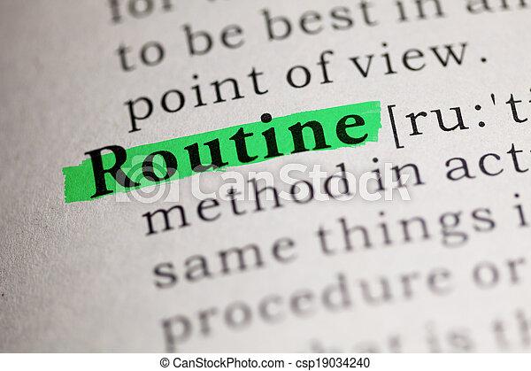 Routine - csp19034240