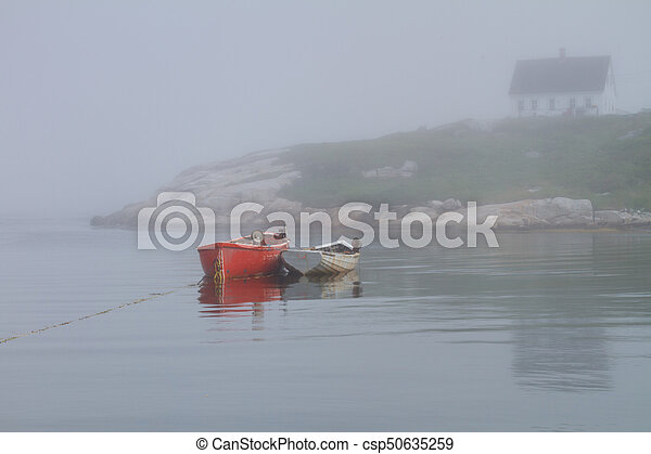 Row Boats in Peggy's Cove - csp50635259