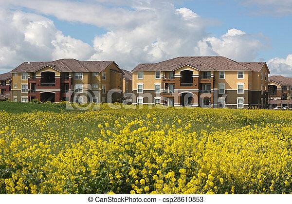 Row of Apartments - csp28610853