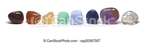 Row of chakra crystals - csp20367007