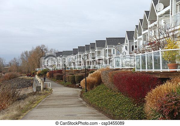 Row of condominiums. - csp3455089