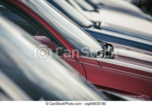 Row of Factory New Cars - csp64635180