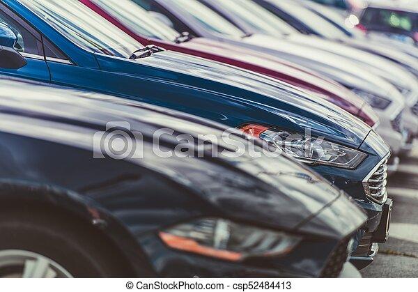 Row of New Cars - csp52484413