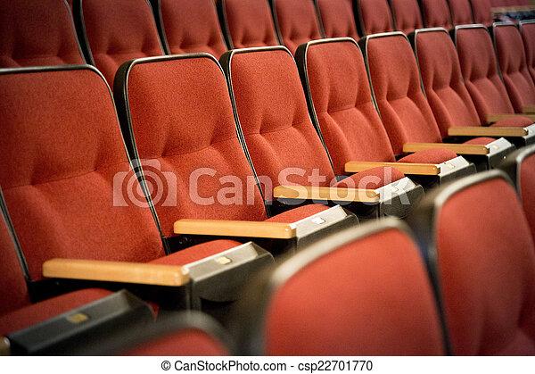 Row of red theatre seats row of red theatre seats csp22701770 freerunsca Gallery