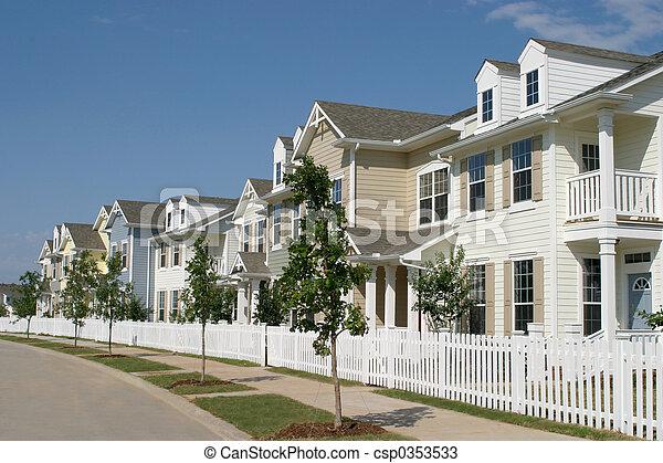 Row Of Suburban Townhouses - csp0353533