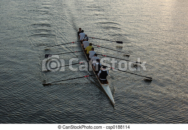 Rowers on the river - csp0188114