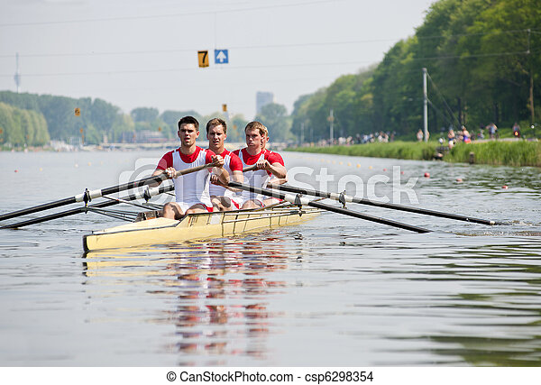 Rowers to the start - csp6298354