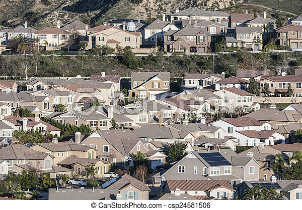 Rows of California Suburban Homes - csp24581506