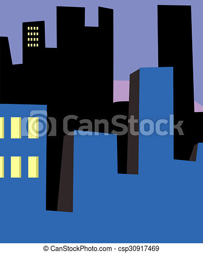 Rows of High-Rise Buildings - csp30917469