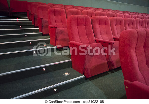 Rows of red seats - csp31022108