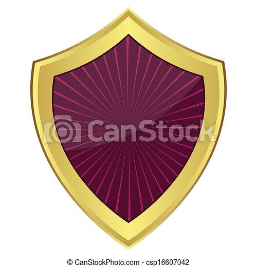 roxo, escudo - csp16607042