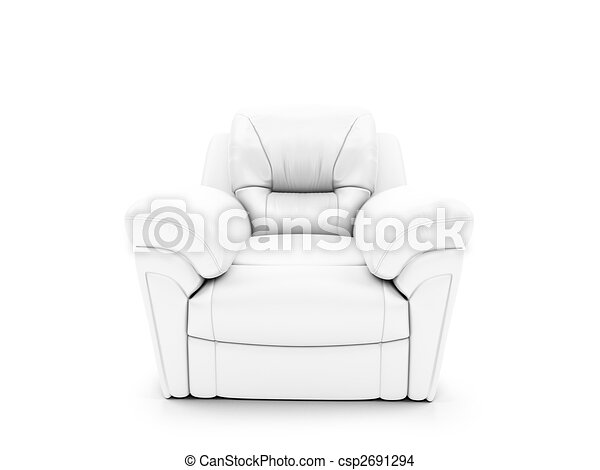 royal armchair front view - csp2691294