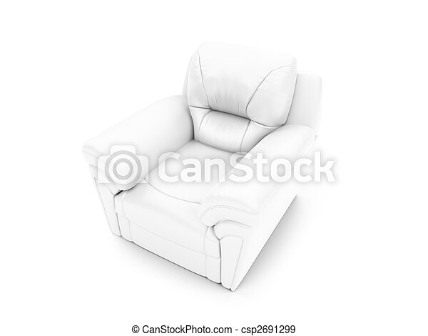 royal armchair front view - csp2691299