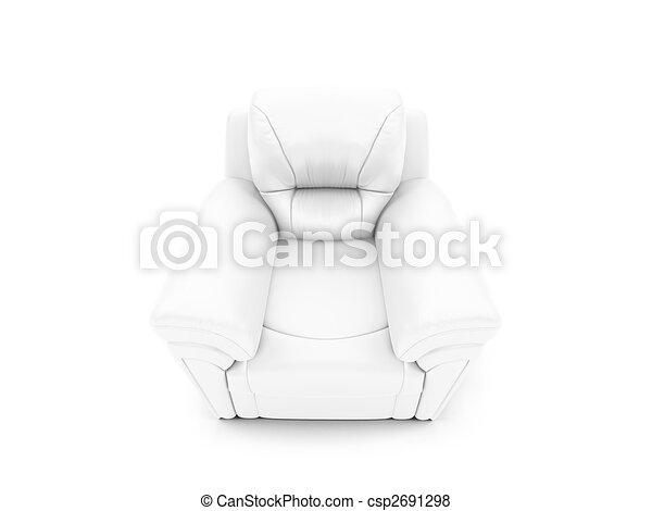 royal armchair front view - csp2691298