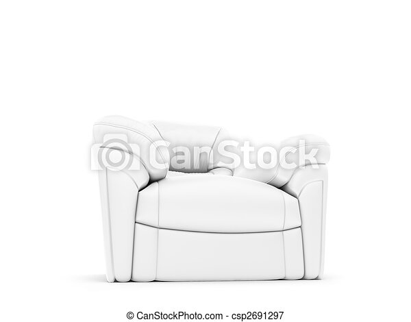 royal armchair front view - csp2691297