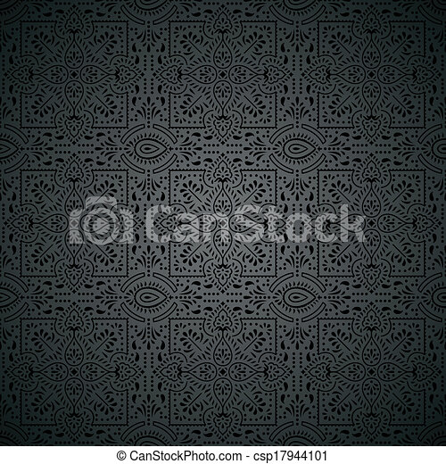 Royal black wallpaper - csp17944101