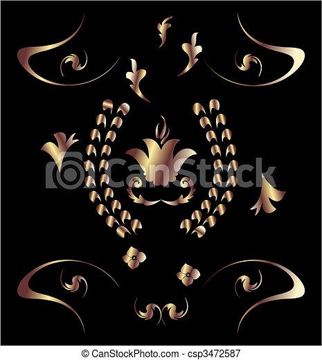 Royal bronze pattern - csp3472587