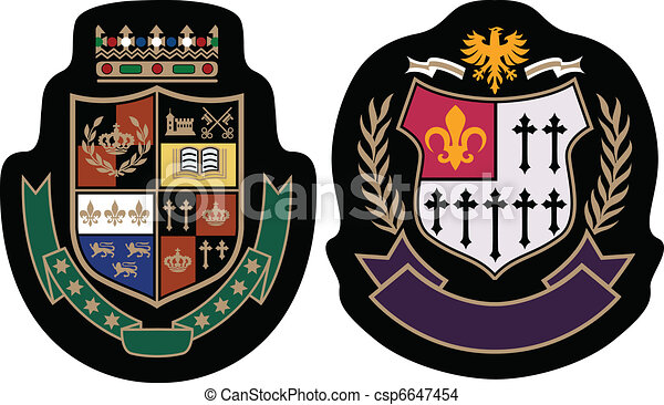 royal fashion college badge - csp6647454