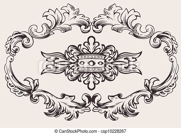 Royal Frame Decoration Vector - csp10228267