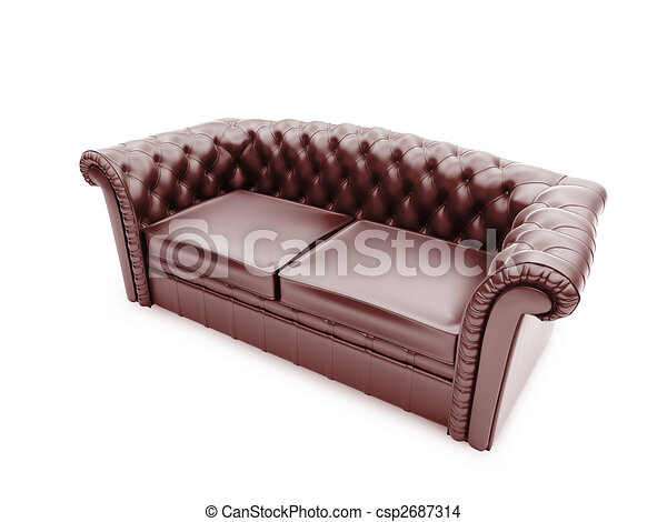 Royal furniture isolated front view - csp2687314