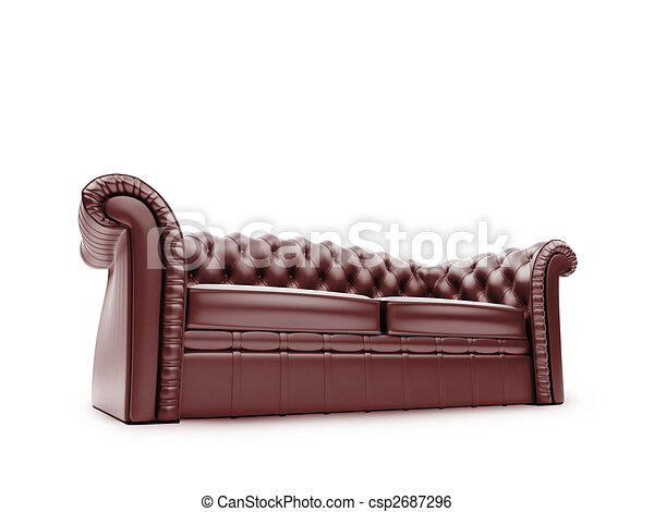 Royal furniture isolated front view - csp2687296