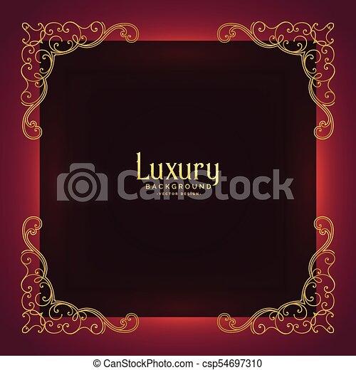 Royal Invitation Card Background With Ornamental Frame Decoration