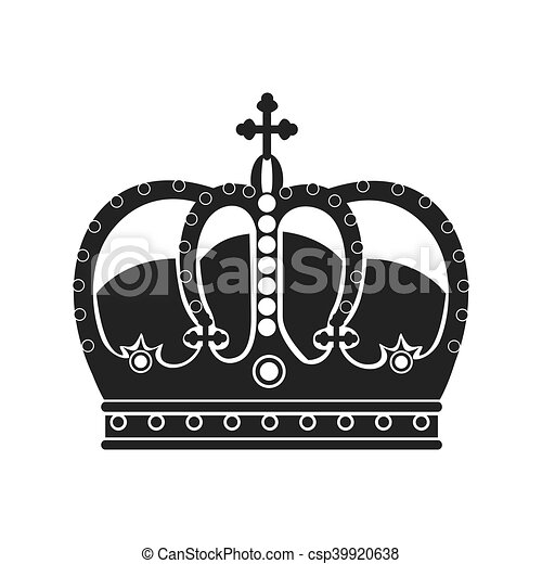 Royal king crown over white background vector illustration royal king crown csp39920638 thecheapjerseys Choice Image