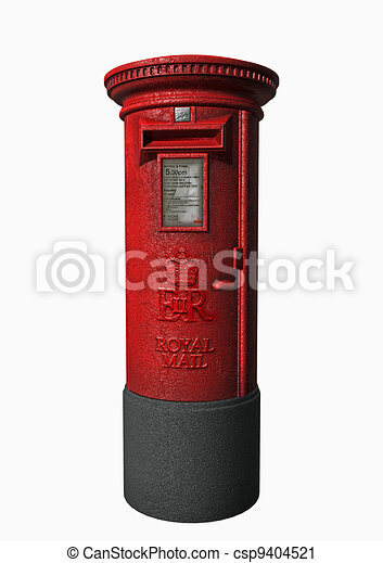 Royal Mail A London Letter Box In 3d Clipart