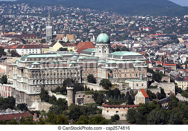 Royal Palace in Budapest, Hungary - csp2574816