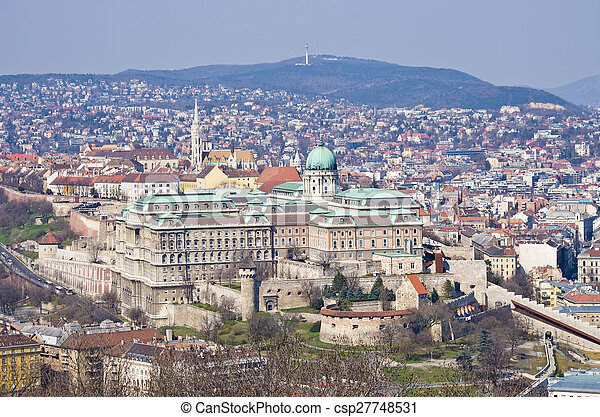 Royal palace in Budapest, Hungary - csp27748531