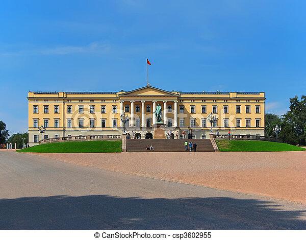 Royal Palace, Oslo, Norway  - csp3602955